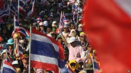 Protesters in Bangkok
