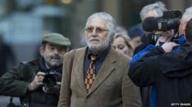 Dave Lee Travis arrives at court