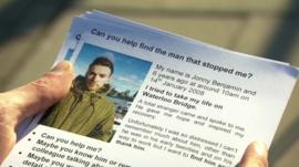 Jonny Benjamin's leaflet