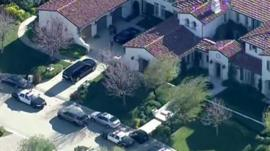 Aerial shot of Justin Bieber's house
