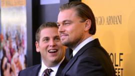 Jonah Hill and Leonardo DiCaprio