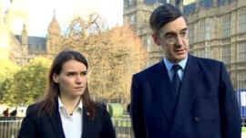 Agnieszka Pomaska and Jacob Rees Mogg