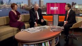 Anne McElvoy, John Simpson and Andrew Marr