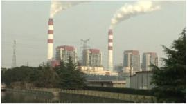 Factories near the free trade zone in Shanghai