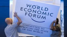 Setting up at Davos