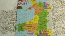 Wales map as a jigsaw