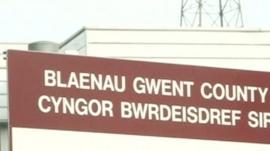 Blaenau Gwent council sign