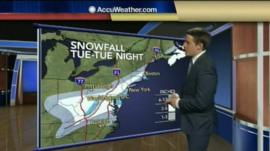 A weather presenter in the US
