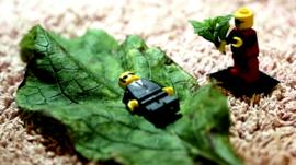Lego characters re-enact funeral
