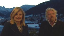 Arianna Huffington and Sir Richard Branson