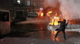 Protester in Kiev
