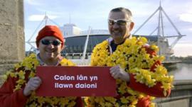 Wales sings Calon Lan