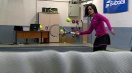 LJ Rich and high-tech racquet