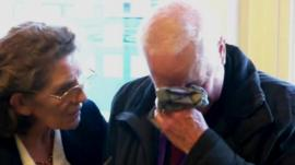 Tony Carroll, left, a Bletchley volunteer tour-guide
