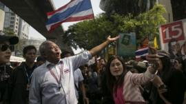 Suthep Thaugsuban and supporters