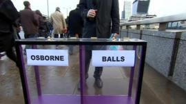 Daily Politics mood box on London Bridge