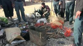 Afghan National Army's haul of seized weapons