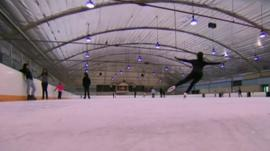 Skaters on rink