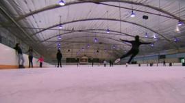 Skaters on rink