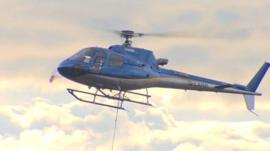 The helicopter
