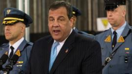 New Jersey Governor Chris Christie