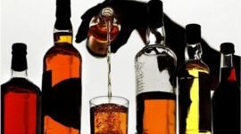 Whisky bottles