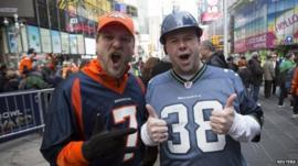 Super Bowl fans in New York City