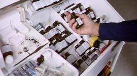 Hospital drugs medicine cabinet