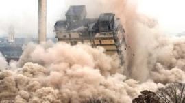 Frankfurt tower demolition