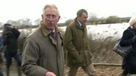Prince Charles visits the Somerset Levels