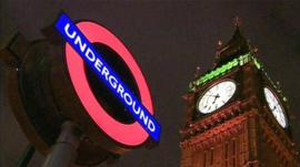 Big Ben and London Underground sign