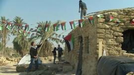 Palestinians repair buildings in Ein Hijleh