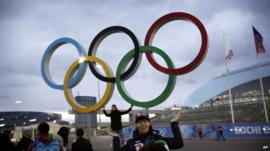 Olympic rings in Sochi