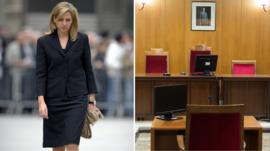 Princess Cristina and court room