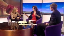 Fiona Phillips, Jo Coburn and Christian Guy
