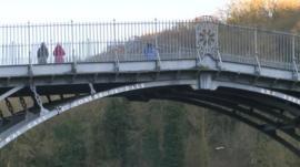 The bridge in Ironbridge