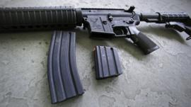 An AR-15 rifle