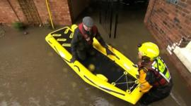 Man rescued from floods