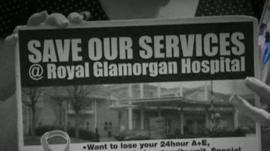 Protests against downgrading at Royal Glamorgan
