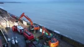 Dawlish railway repairs
