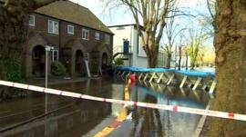 Flood measures in Winchester