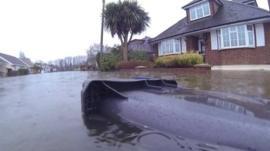 Flooding in Egham, Surrey