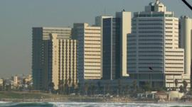 Tall buildings in Tel Aviv