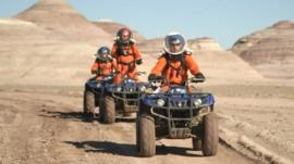 University of Bristol students at the Mars Desert Research Station in the US
