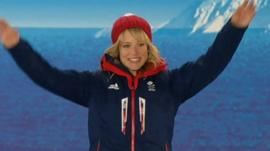 Snowboarder Jenny Jones