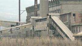 Disused industrial building, Mitrovica
