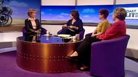 Andrea Leadsom, Jo Coburn, Hazel Blears and Lorely Burt