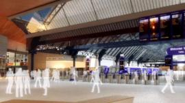 Artist's impression of Queen Street train station