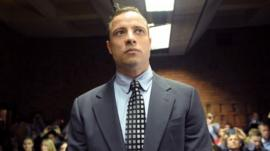 File photograph of Oscar Pistorius