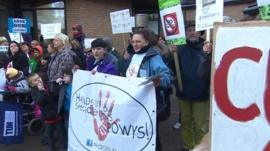 Cuts protest in Powys